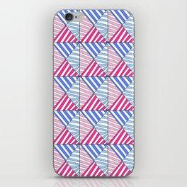 Symetric triangle 1 -vichy, gingham,strip,triangle,geometric, sober,tartan,mandala iPhone Skin