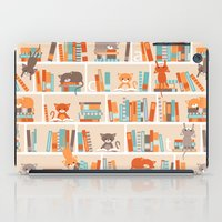 library iPad Cases featuring Library cats by Heleen van Buul