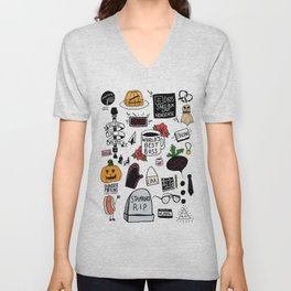 The Office doodles Unisex V-Neck