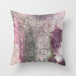 Lace Sky Collage Throw Pillow