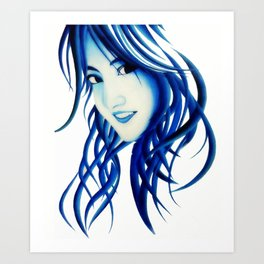 Abstract girl Art Print