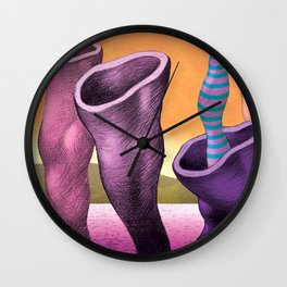 Fantasy3-Organic acuatic forms Wall Clock