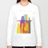 singapore Long Sleeve T-shirts featuring Shapes of Singapore. by Glen Gould