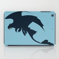 toothless iPad Cases featuring Toothless by Dewdroplet