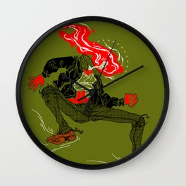 HOT HEAD Wall Clock