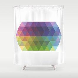 Fig. 016 Geometric Shape Triangles Shower Curtain