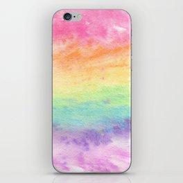 Watercolor Rainbow Wash iPhone Skin