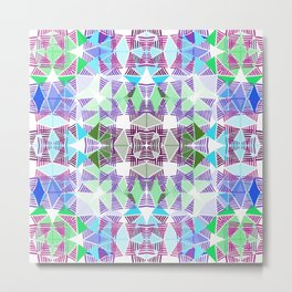 Colorful Tropical Abstract Zenspire Geometrical Pattern 2 Metal Print