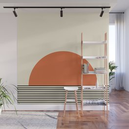 Sunrise / Sunset - Orange & Black Wall Mural