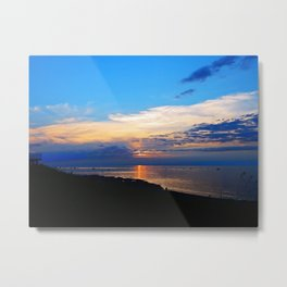 Sunset Balcony silhouette Metal Print