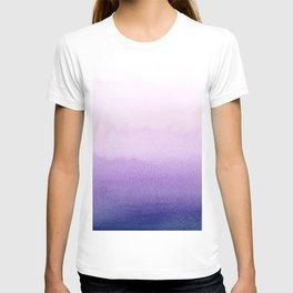 Purple watercolor texture T-shirt