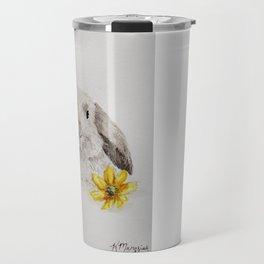 Flower Bunny Travel Mug