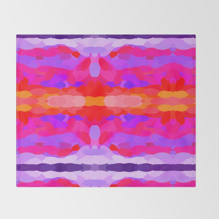 Purple, pink and orange tie dye Throw Blanket