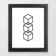 minimal & geometric no.3 Framed Art Print