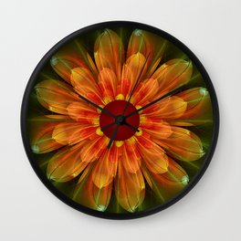 Artistic fantasy succulent flower Wall Clock