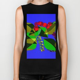 Pomegranates, Grapes, Blue Berries and Olives Biker Tank