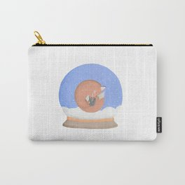 Sleeping Fox in A Snow Globe Carry-All Pouch