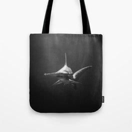 Hammerhead Shark (Black and White) Tote Bag