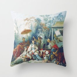 Le Jardin Chinois by François Boucher Throw Pillow
