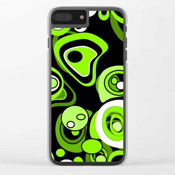 Abstract pattern black and green background . Clear iPhone Case