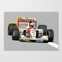 senna Canvas Prints featuring Ayrton Senna by Jack Alexander