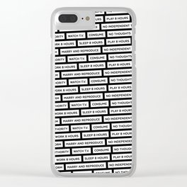They Live We Sleep Texture Clear iPhone Case
