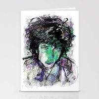 bob dylan Stationery Cards featuring Bob Dylan by Irmak Akcadogan