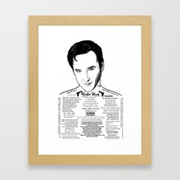 Grosse Pointe Blank - John Cusack Ink'd Series Framed Art Print