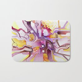 Sunberry - Abstract Southwest Watercolor Painting Bath Mat