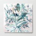 "G. Hand painted watercolor art ""Botanical Illusion"" by dessireeartdeco"