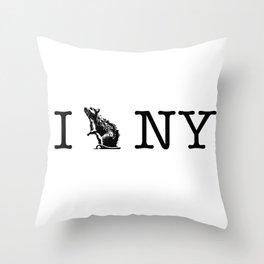 I RAT NYC Throw Pillow