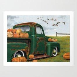 The Pumpkin Truck  Art Print