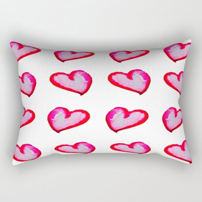 She Said She Wouldn't Go, Hearts! Rectangular Pillow