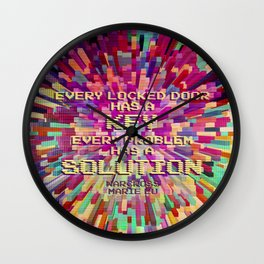 Every locked door has a key. Every problem has a solution. Warcross Wall Clock