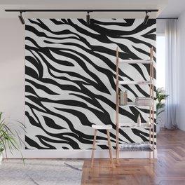 modern safari animal print black and white zebra stripes Wall Mural