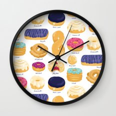 Donut Identification Wall Clock
