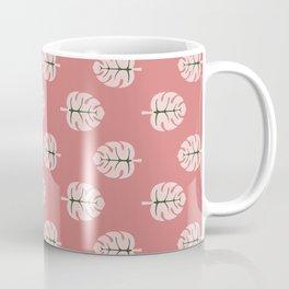Tropical leaves Monstera deliciosa flaming pink #monstera #tropical #leaves #floral #homedecor Coffee Mug