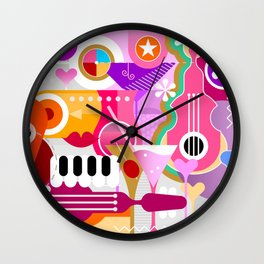 Cocktails and Music Wall Clock