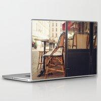 cafe Laptop & iPad Skins featuring Paris Cafe by Nina's clicks