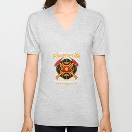 Retired Firefighter Been There Done That And Proud Of It  Unisex V-Neck