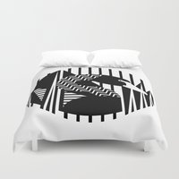 black swan Duvet Covers featuring black swan by Gray