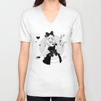 comic V-neck T-shirts featuring Comic Love by Jasmin Darnell