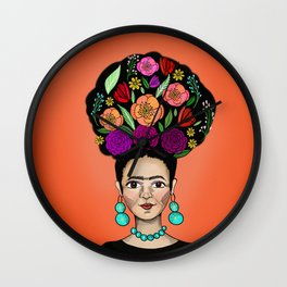 Frida Floral Wall Clock