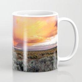 Enchanted Evening - Colorful Storm Cloud Over Desert near Taos, New Mexico Coffee Mug