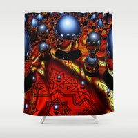 guardians Shower Curtains featuring Guardians by Robin Curtiss