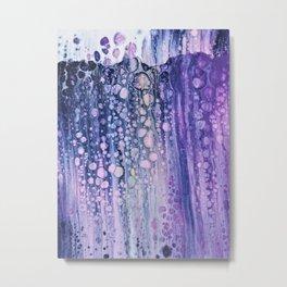 purple bubble Metal Print