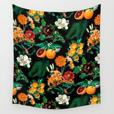 Fruit and Floral Pattern Wall Tapestry
