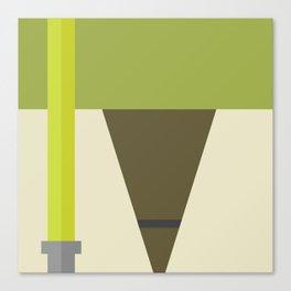 Minimalistic Yoda Canvas Print
