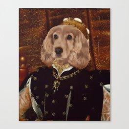 Regal Cocker Spaniel Canvas Print