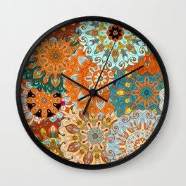 Boho Mandela Pattern 1 Wall Clock